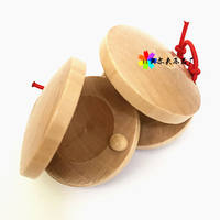 Special offer Orff children percussion instrument Spanish original wooden round castanets three sentences and half dance