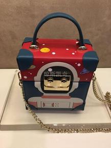 新款时尚机器人手提女包斜挎小方包盒子包8163A63611G11/Z03/N02