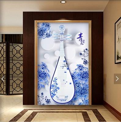 青花瓷壁纸背景墙网店网址