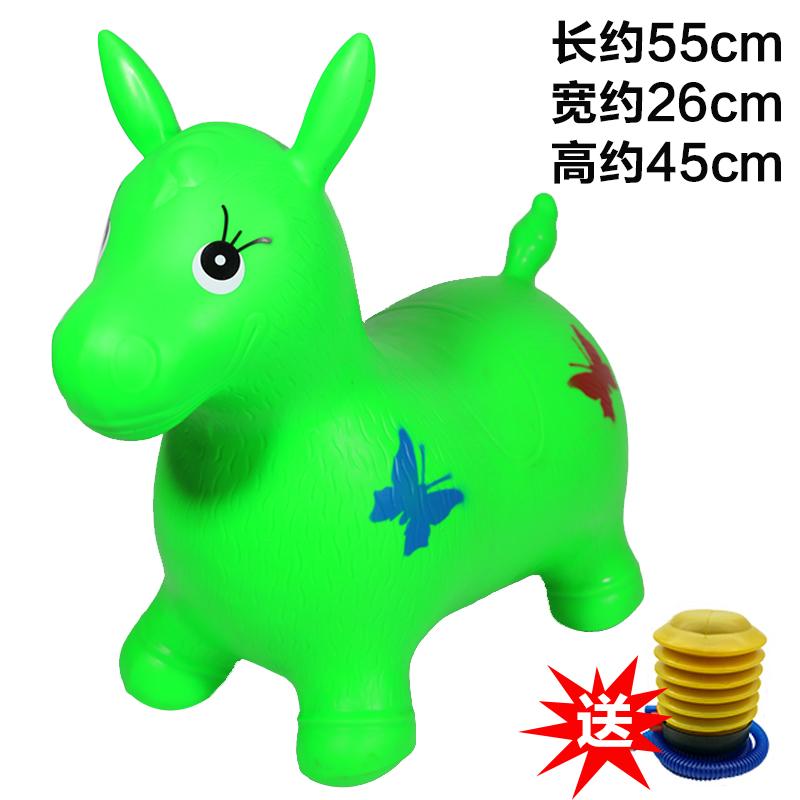 建大音乐儿童跳跳马宝宝加厚跳跳小鹿动物可坐骑的充气玩具摇摇马