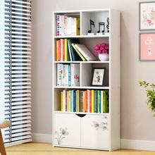 简易书架落地置物架组合小书柜简约现代储物柜组装学生经济型收纳