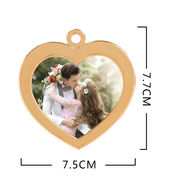 Photo pendant ornaments custom photo car pendant custom DIY photo small gift commemorative gift
