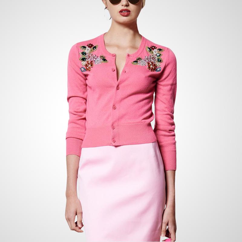 粉色时尚针织衫