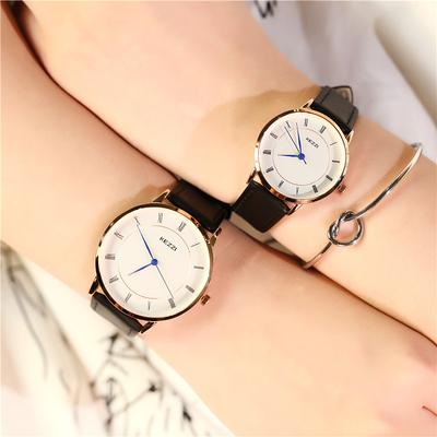 香港珂紫羅馬刻度皮帶情侶手表女士韓版防水手表復古簡約情侶手表怎么樣
