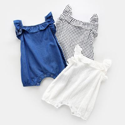 宝宝连体衣薄款男新生儿纯棉公主吊带哈衣夏季初生婴儿衣服夏装女