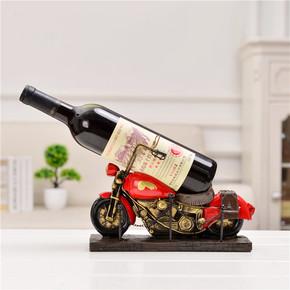 欧式红酒架家用客厅创意葡萄酒架子复古汽车摆件时尚简约红酒瓶架
