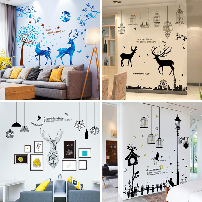 3d立体墙贴客厅个性