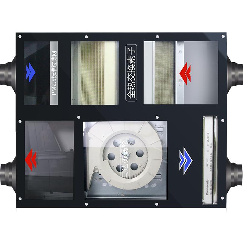 松下新风系统家用中央 全热交换器室内pm2.5过滤机换气系统新风机