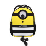 Little Yellow man multi-functional backpack anti-walking loss applicable to 2-4 year old baby