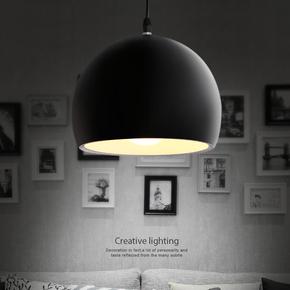 美式简约现代LED餐厅灯酒吧台灯单个铝灯创意工业艺术饭厅吊灯饰