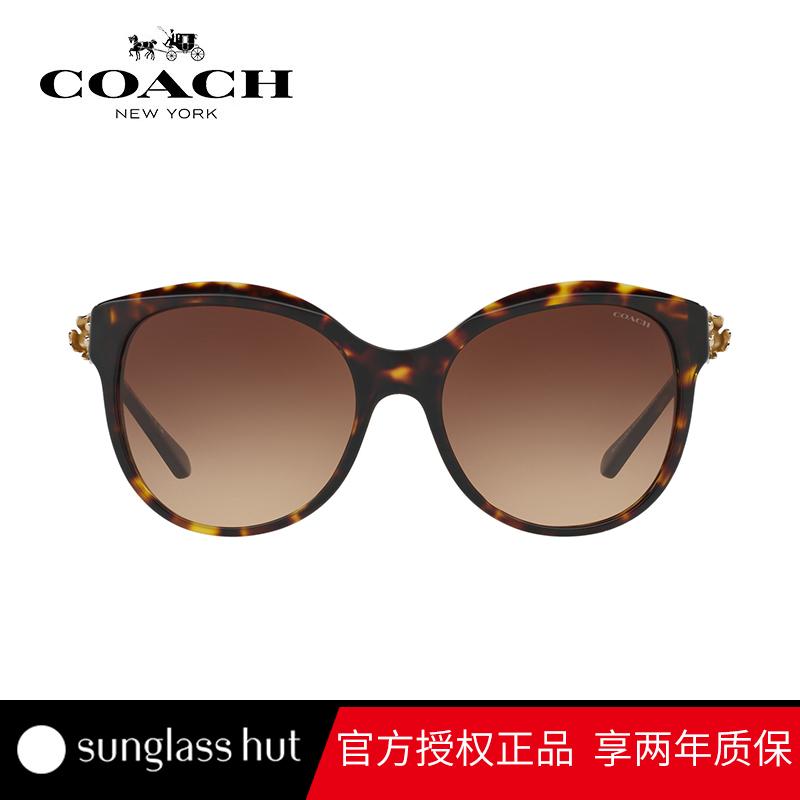 COACH/蔻驰 猫眼形时尚太阳镜女 渐变个性墨镜眼镜圆脸HC8189F