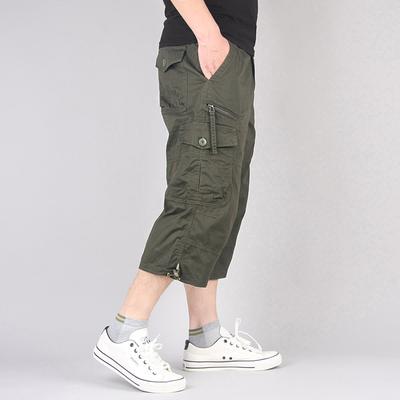 夏季男士运动裤七分裤男休闲裤宽松直筒裤青年工装裤子男短裤潮流