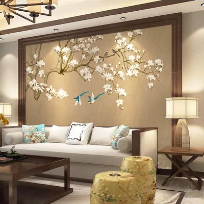 现代简约 新古典壁纸壁画 无纺布墙纸装饰客厅电视背景墙中式墙布哪个好