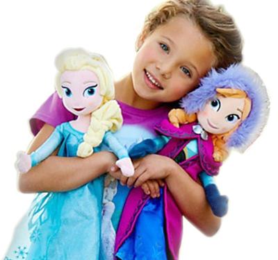 冰雪奇缘大冒险爱莎安娜公主娃娃frozen elsa毛绒玩具公仔玩偶女