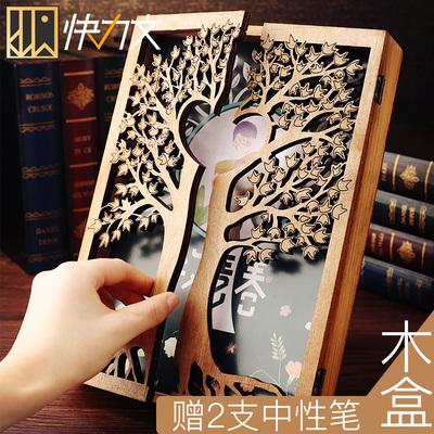 木盒同学录小学生毕业男生纪念册创意100张页盒装复古初中生大号