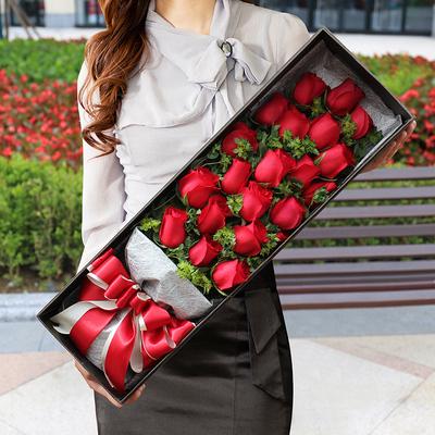 七夕情人节苏州鲜花速递同城配送红玫瑰花束送花上门花店鲜花礼盒
