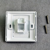 NIPPON bevel single-mouth panel flame retardant network telephone socket type 86 panel does not contain modules