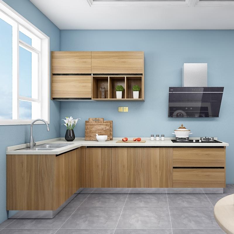 欧派橱柜定制厨房整体家用现代组装石英石台面3米套餐 蒙布朗塔