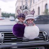 Ms. Car Pendant Korea Cute Crystal Car Rear View Mirror Car Ornament Decoration Car With Decoration Pendant