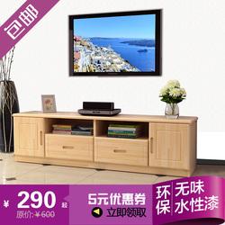松木电视柜简约客厅柜子定制实木电视柜小户型家具组合柜特价包邮