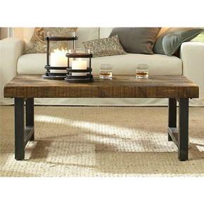 美式复古铁艺实木简约茶几办公室客厅沙发茶桌休闲咖啡小方桌茶台