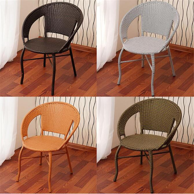 塑料编椅子