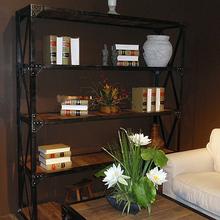 美式乡村loft格架实木书架复古展示架陈列架做旧书柜可定做置物架