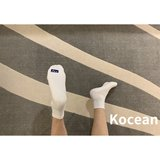 Kocean evergreen mid-tube low top letter air white socks control towel bottom versatile striped white socks