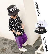 Tinky童装儿童帽子夏季新款遮阳太阳帽中大男童防晒帽渔夫帽盆帽