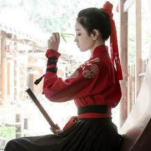重回汉唐汉服情侣明曜日常非琅装中国风刺绣交领齐腰襦裙男女同款