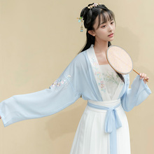 Returning to Han and Tang Dynasty Spring Dresses, Taohuaxi Daily Non-antique Dressed Skirt, Chinese Style Embroidered Short Dressed Dresses and Waist Skirt