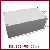 电气外壳 F2塑料壳体 ABS室内外防水盒 电源开关盒 158 60mm图片