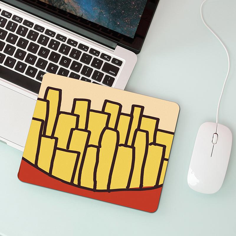 ins风文艺简约可爱卡通鼠标垫笔记本便携鼠标垫防滑鼠标垫小定制