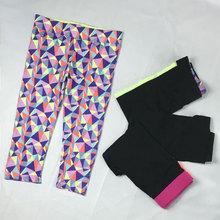 胖MM高弹显瘦速干透气排汗瑜伽裤 跑步健身七分裤 大码 福利特价