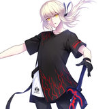 Jack front black beber anime short-sleeved T-shirt fate two yuan around fgo fake two-piece compassionate