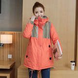 Winter cotton jacket for pregnant women