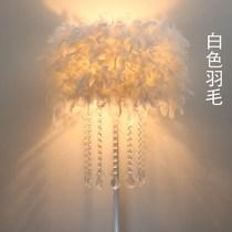 羽毛立式北欧落地灯客厅台灯卧室床头灯欧式公主创意简约地灯