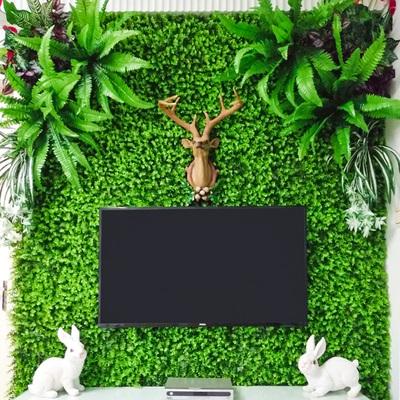 绿植墙仿真植物墙装饰客厅室内背景花墙面尤加利塑料假草坪阳台哪个品牌好