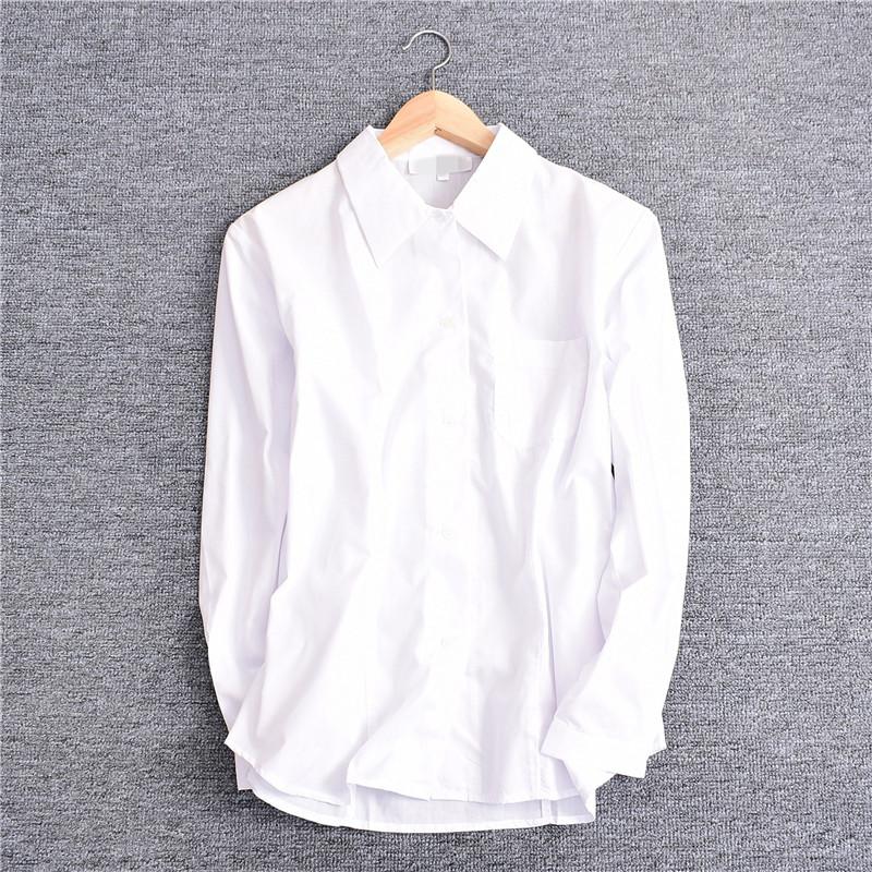 4.06X3650春夏款男女上装经典标准版型纯色百搭上衣长袖职业衬衫