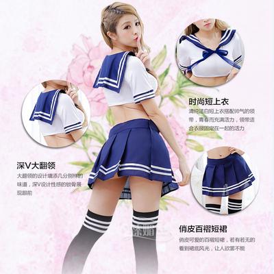 制服诱惑清纯学生装性感情趣内衣成人用品女丝袜激情紧身水手服