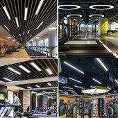 led办公吊灯阅览室健身房舞蹈房办公区接待区商用创意个性 造型灯