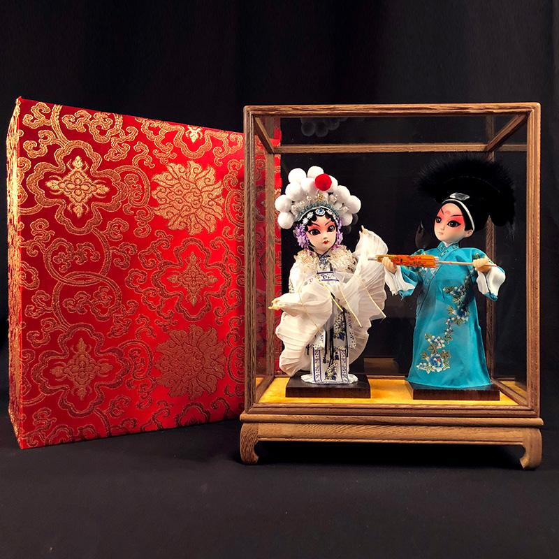 中国风出国礼品京剧套装送老外北京娟人特色工艺品实用商务小礼物