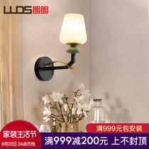 美式壁灯铁艺卧室床头灯家用客厅电视墙壁灯创意个姓过道壁灯具
