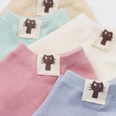 袜子女短袜浅口韩国可爱纯棉薄款夏季学院风隐形袜低帮纯色船袜女