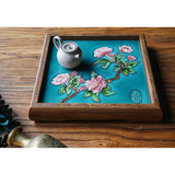 Beautiful woman old elm wood tea tray solid wood storage tray ceramic home decoration tray fruit tray desktop storage