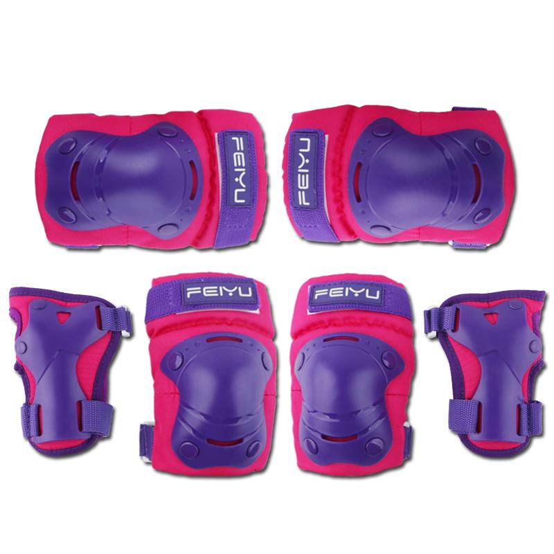 沸鱼儿童全套防摔溜冰鞋滑冰平衡车装备骑行护膝宝宝轮滑护具套装