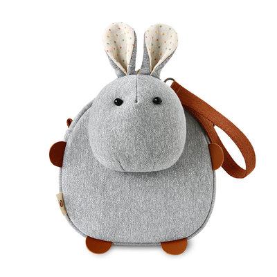 三色补丁宾果兔挎包韩版可爱儿童包原创女包斜挎包布艺零钱手机包