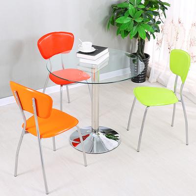现代简约玻璃圆桌小桌子钢化玻璃餐桌椅组合咖啡桌洽谈桌接待桌椅排行榜