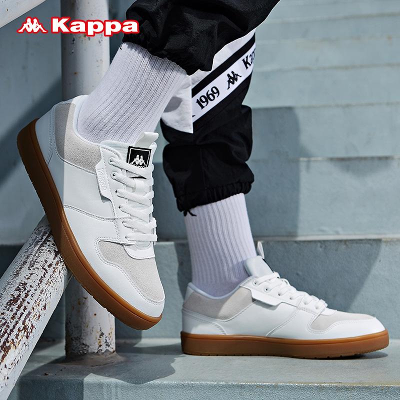 Kappa卡帕情侣男女板鞋低帮轻便运动鞋经典系带小白鞋2019新款