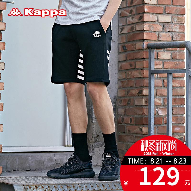 Kappa卡帕男款宽松短裤 休闲针织运动裤短裤 2018新品|K0815DY02D